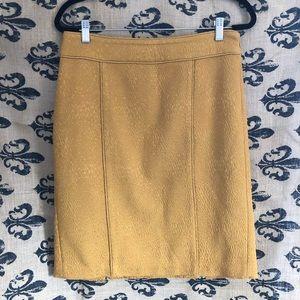 [LOFT] Mustard yellow gold textured pencil skirt